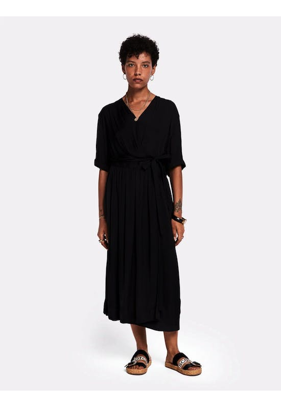 MIDI LENGTH WRAPOVER DRESS 149860