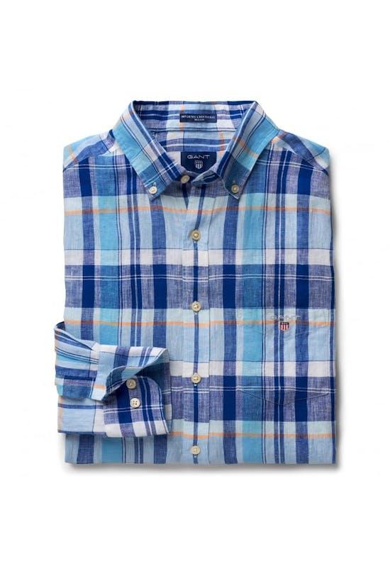 Linen Madras Reg Shirt