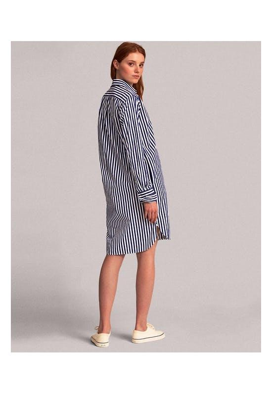 Πουκαμίσα Φόρεμα Ριγέ