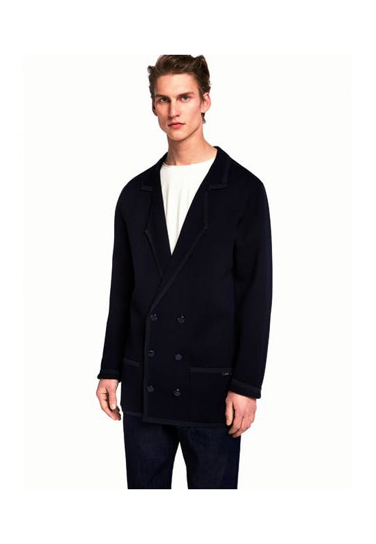 Knitted Double-Breasted Blazer