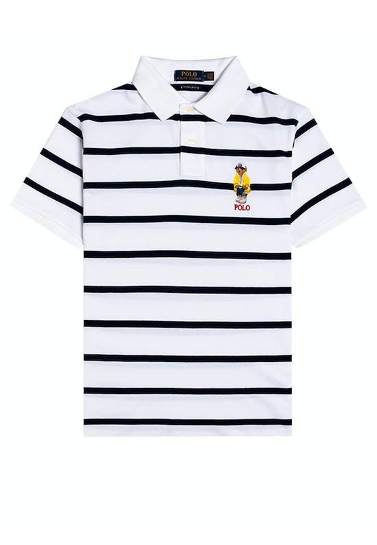 Striped Bear Polo Shirt