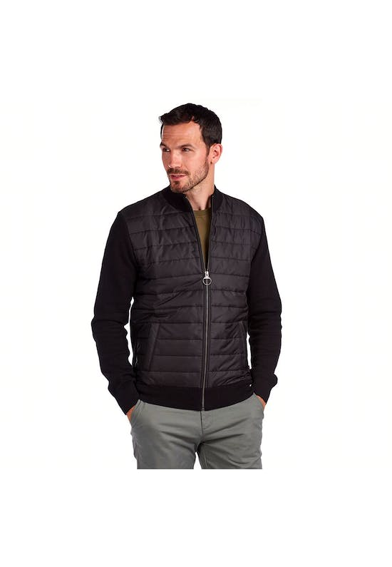 Carn Baffle Zip Thru Sweater