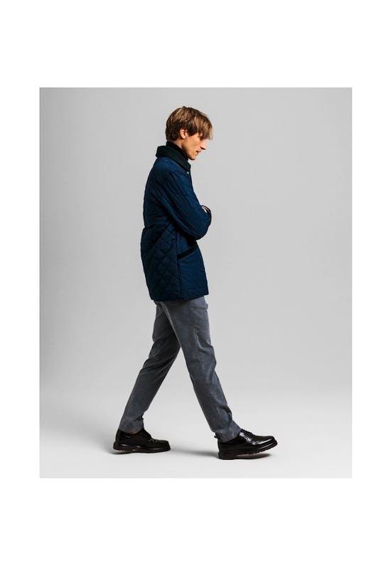 Slim fit trousers with herringbone pattern