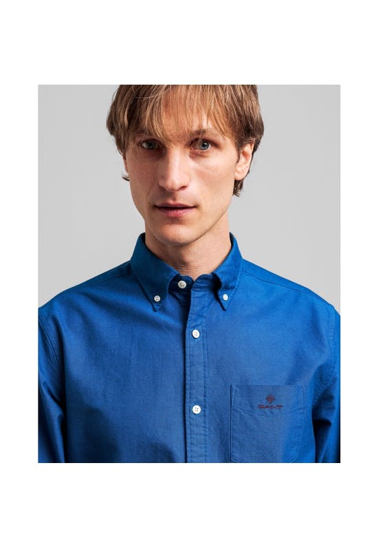 Beefy regular fit checked oxford shirt
