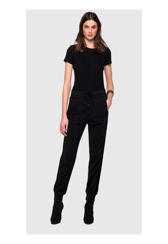 Cotton Trousers With Lurex