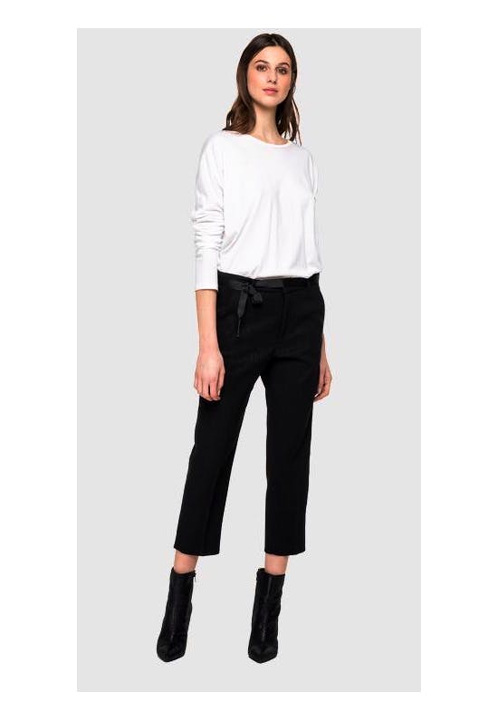 Crop Trousers With Checked Print