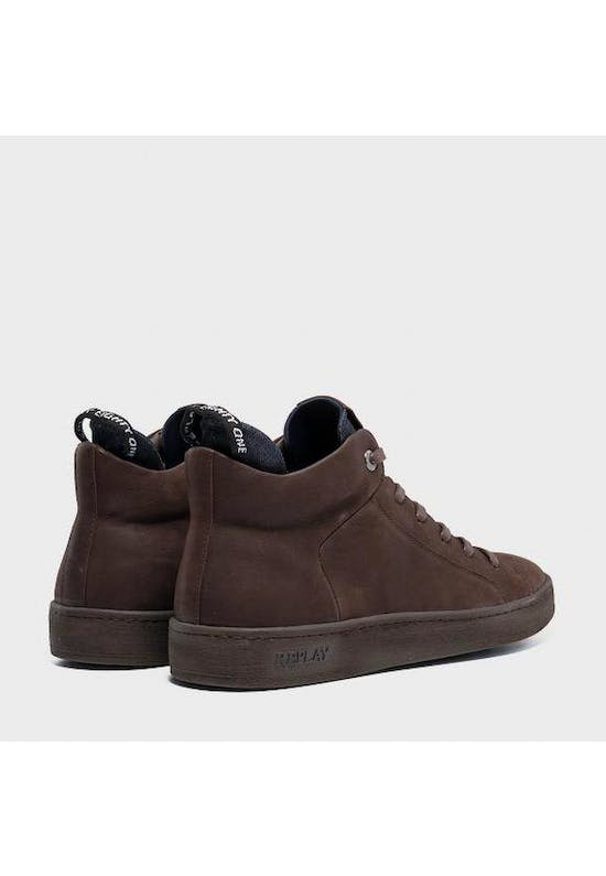 Men's Brightoon Lace Up Mid Cut Leather Sneakers