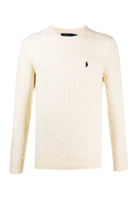 Wool & Cashmere Cable-Knit Pullover