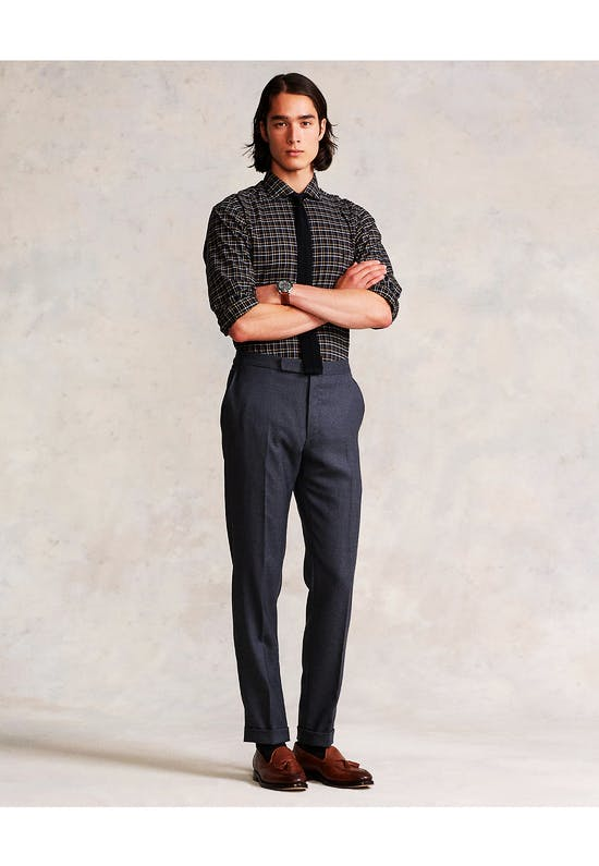 Custom Fit Plaid Twill Shirt