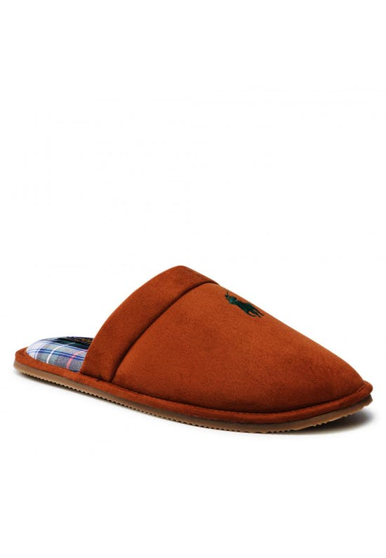 Tartan Brown Pony Slippers