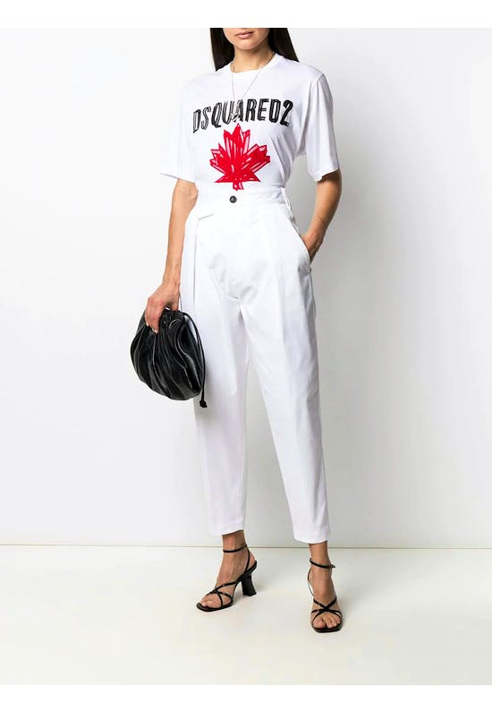 Cotton High Waisted Trousers
