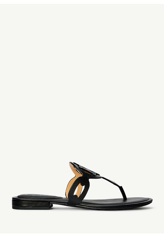 Audrie Burnished Leather Sandal