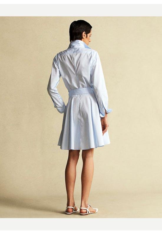 Cotton Broadcloth Shirtdress