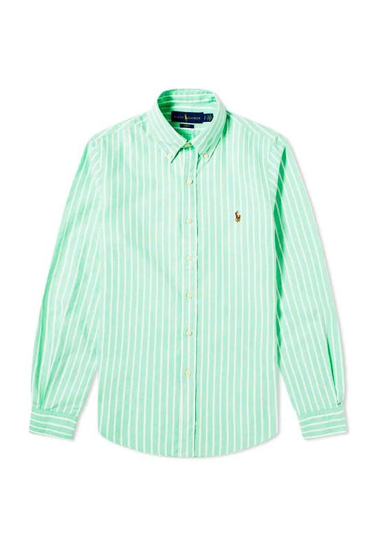 Button Down Stripe Oxford Shirt