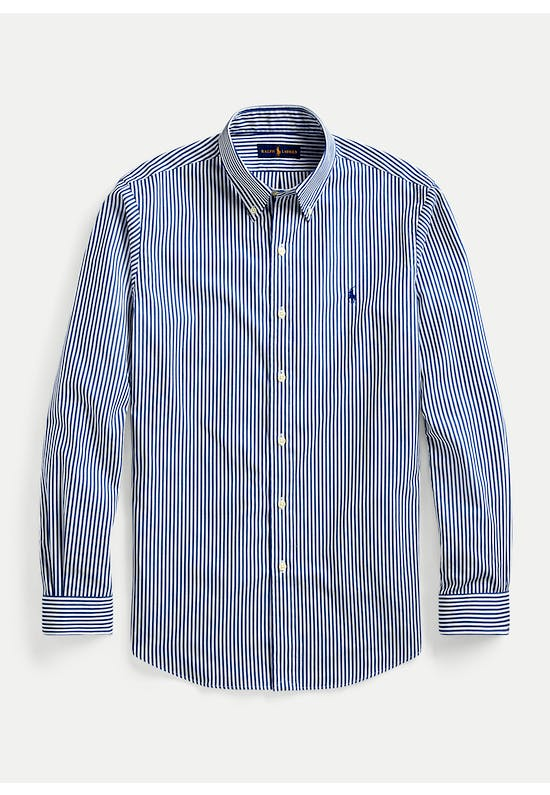 Custom Fit Striped Poplin Shirt