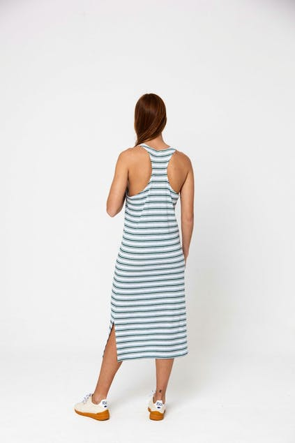 THINKING MU - Thinking Mu Horizontal Rayas Hemp Lazy Dress WDR00023