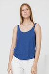 Thinking Mu Blue Hemp Tank Top WTP00019